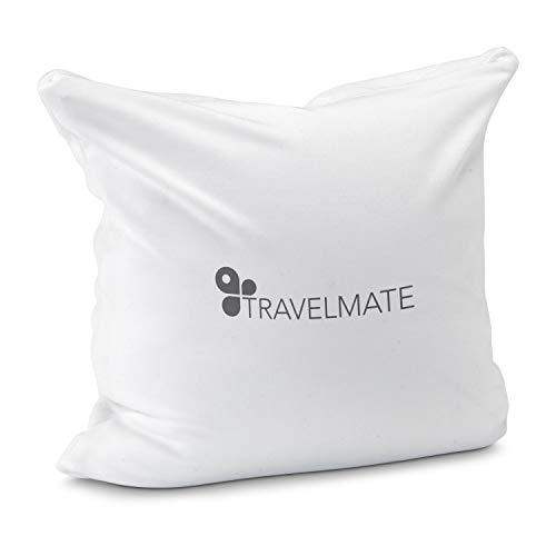 Römer Wellness Almohada de Viaje de Color Blanco con microperlas, 25 x 25 x 9 cm, óptima adaptación ergonómica, Ligera, Funda extraíble y Lavable