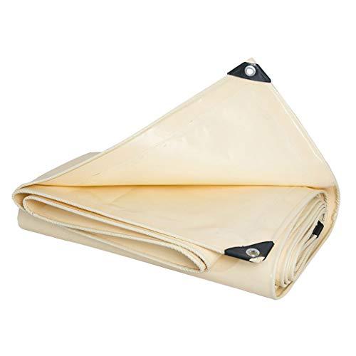 Cubierta de lona De doble cara impermeable recubierto de lona de PVC Shade Pesado Lluvia de tela beige tela impermeable al aire libre del pabellón piscina cubierta impermeable con bordes y ojales metá