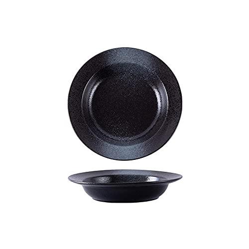 PORCN Plato de pasta para sombrero de paja, vajilla japonesa, plato de sopa grueso, plato hondo occidental para el hogar -D-10_inch_