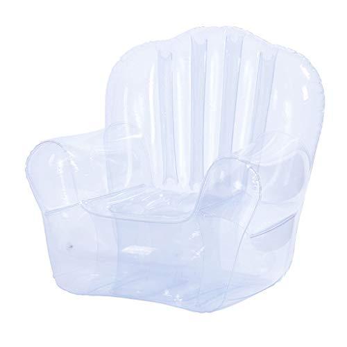 Inflatable Pools Sofá inflable grueso, silla transparente, sofá cama para la familia perezosa, ocio, sofá, shooting Props decoración para fiestas, sofá, asientos hinchables (color: transparente)