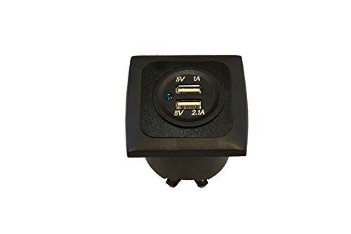 Vrije tijd Wittke stopcontact USB dubbel frame + inbouwdoos 3.1A - zwart