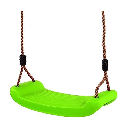 Q-L Milieu-PE Verdikking Volwassen Kinderen Schommel Opknoping Stoel In Hoogte Verstelbare Maximale Belasting 120kg (Color : Green)