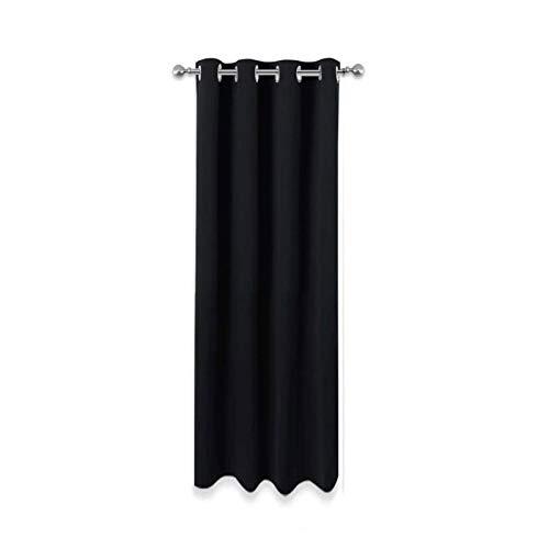Verduisterend waterdicht gordijn voor buiten, stoffen lichtblokkering Verduisterende terrasgordijnen, zwarte Gazebo-gordijnen waterdicht voor binnen(Size:134x270cm/53x106in)