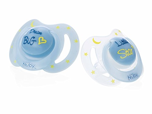 Nuby Nûby Pack De 2 Chupetes Little Moments 6-36 Meses Azul
