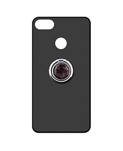 Sunrive Kompatibel mit Nubia Z11 Mini Hülle Silikon, 360°drehbarer Ständer Ring Fingerhalter Fingerhalterung Handyhülle matt Schutzhülle Etui Hülle (Schwarzer Marmor) MEHRWEG