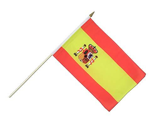 Fahne Flagge Spanien 30 x 45 cm mit Stab