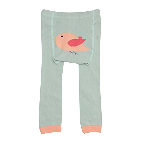 Collants pour bébés tout-petits, Meedot Coton Collants pour bébés Body-Stocking Ninth Leggings Green Bird S/0-2 years