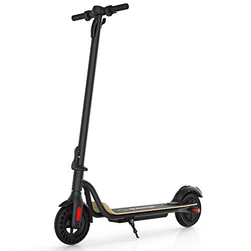 Electric Scooter 13.6 Miles Long Range Battery, Up to 15.5 MPH, 8' Solid Tires, Portable and Foldable Adults Electric Scooter for Short Daily Commutes and Trips