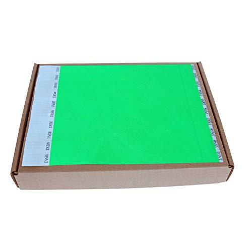 MP - Tyvek Pulseras 1000 unidades para Eventos, Color Verde