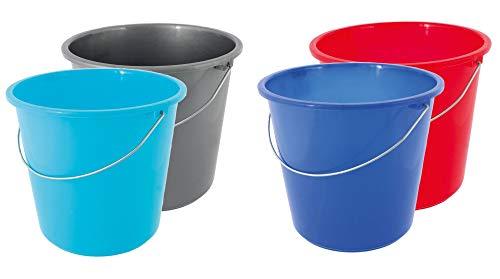 Eimer Haushaltseimer Putzeimer Kunststoff Lebensmittelecht 4 Stück Größenauswahl, Größe:10 Liter