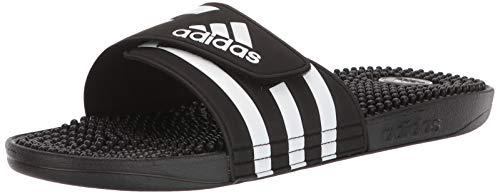 adidas unisex adult Adissage Mule, Core Black Ftwr White Core Black, 14 US