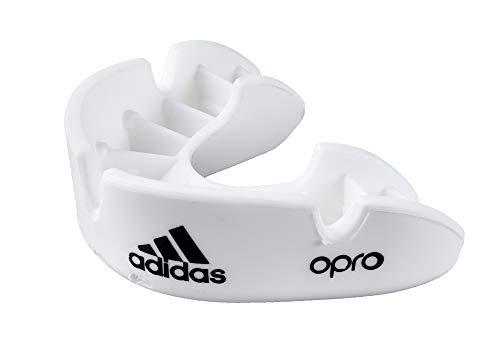 adidas Unisex– Erwachsene Opro Gen4 Bronze Mundschutz, weiß/schwarz, Senior