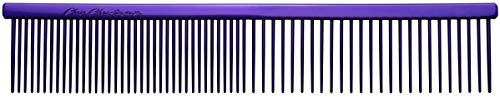 Chris Christensen 000 Fine/Coarse Buttercomb | 7 ½ inche Pet Grooming Comb made with Stainless Steel | Great Finishing Dog Comb | Removes Tangles and Knots Combs for Grooming All Breeds of Dogs