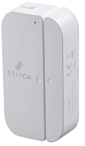 STITCH by Monoprice Wireless Smart Door/Window Sensor; Works with Amazon Alexa and Google Assistant for Touchless Voice Control No Hub Required