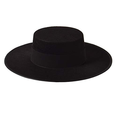 Erwachsenenkostüm Spanischer Hut Schwarz Matador Hut Sombrero Hut
