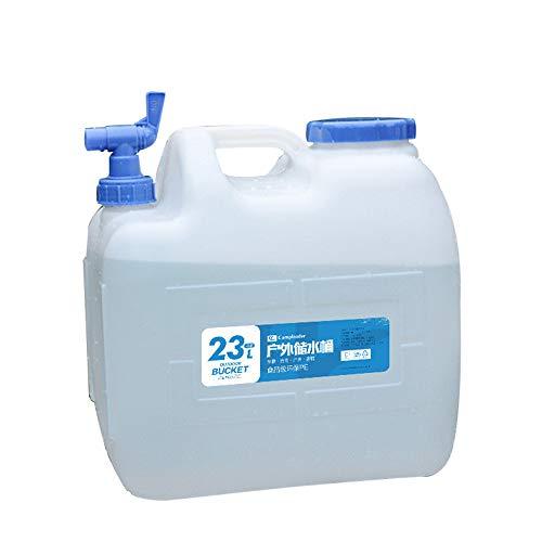 18L Outdoor Camping Kunststoff Quadratischer Wasserbehälter,Tragbarer Reisehaushalt-Autospeichereimer Mit Hahnnotaufbewahrungsbehälter,Trinkwasserspeichereimer