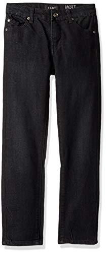 DKNY Boys' Big Denim Jean (More Styles Available), Mott Olive Dye Black, 16