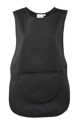 Überwurfschürze / Kasack / Tabart mit Tasche (XL, Schwarz)