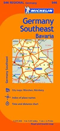 Tourist Map Of Germany.Germany Southeast Bavaria Road And Tourist Map Germany Regional