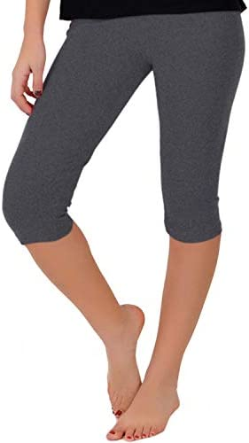 Stretch is Comfort Women s Teamwear Knee Length Leggings Charcoal Gray X Large product image