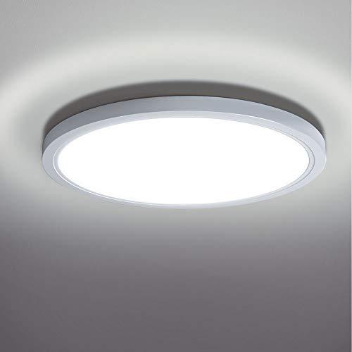 LED Deckenleuchte 20W,bapro LED Leuchten Decke Badezimmer Lampe Küche Decke 6500K 890LM Deckenlampe IP54 für Badezimmer Wohnzimmer Balkon Flur Schlafzimmer Decke Büro Küche Kaltweiß[Energieklasse A++]