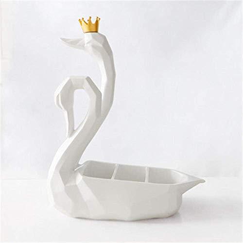 ZGQA-AOC Caja de Almacenamiento de Las Decoraciones del Arte del Arte de Origami Cisne Estatua Oficina Bird Desktop 3