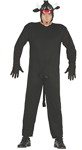 Guirca- Disfraz adulto toro, Color negro, Talla 52-54 (80380.0)