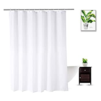 Shower Curtain Liner 76 Inches Long Heavy Duty Water Repellent Polyester Bathroom Fabric Shower Curtains for Spa and Hotel Quality Machine Washable 72 x 76 Inch