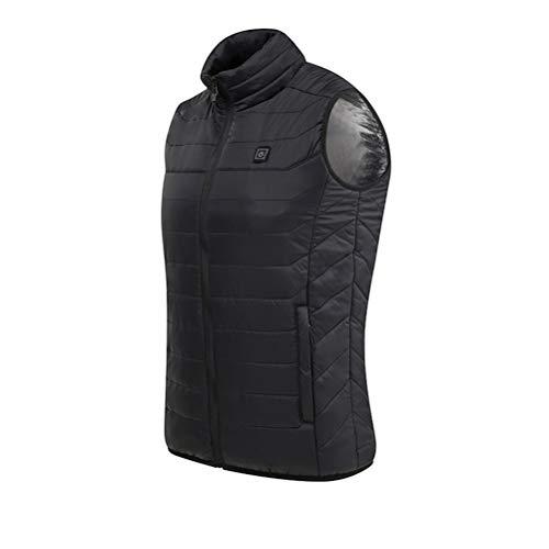 Desire Sky Chaleco de calefacción eléctrica con calefacción eléctrica para invierno, chaqueta cálida de invierno, carga USB, chaleco de calefacción para camping, senderismo, caza