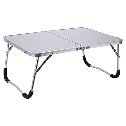 WSJTT Adjustable Portable Laptop Table Stand Folding Computer Reading Desk Bed Tray, White