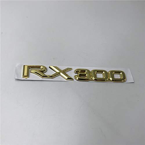 BYTT Plata/Gold para LS300 RX300 GS300 LS400 RX330 RX350 RX430 LS460 LS600HL Bota trasera Emblema del emblema de la insignia de la insignia Letras (Color Name : RX300 gold)
