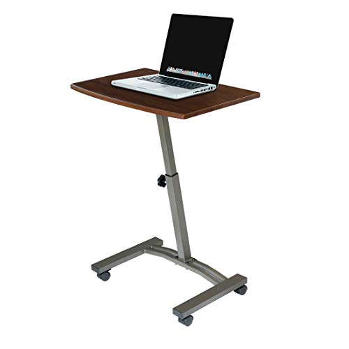 """Our #5 Pick is the Seville Classics 23.6"""" Solid-Top Height Adjustable Mobile Laptop Desk Cart Office Products"""