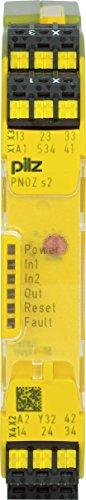 Pilz Not-Aus-Schaltgerät PNOZ s2 C #751102 24VDC 3 n/o 1 n/c Gerät zur Überwachung von sicherheitsgerichteten Stromkreisen 4046548025569