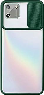 لاوبو ريلمي سي 11 جراب خلفى بلاستيك بغطاء حامى للكاميرا وإطار سيليكون - شفاف و اخضر