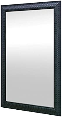 999Store Fiber Framed Decorative Wall Mirror or Bathroom Mirror Black (30X20)