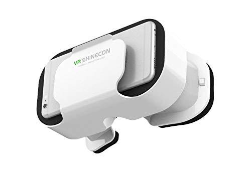 VR 5.0 Helm für LG G4 S Smartphone Virtuelle Brille 3D-Spiele verstellbar (weiß)