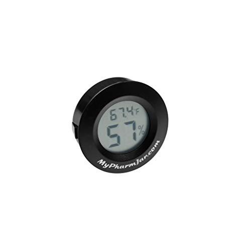 Mypharmjar Digital Hygrometer, Single Cell US Units for Temperature