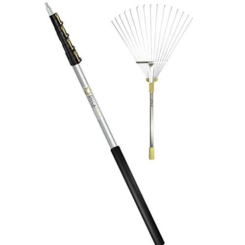 DOCAZOO - DocaPole Roof and Yard Rake Extension Pole - Adjustable, Telescopic, Clean Leaves, Sticks and Debris - 7 to 30 Foot