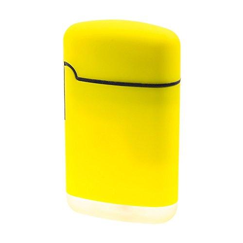 SMOKERTOOLS Easy Torch 8 Rubber Sturmfeuerzeug in 5 Farben sortiert, Farbe Easy Torch Matt:Gelb Matt Gelb Matt
