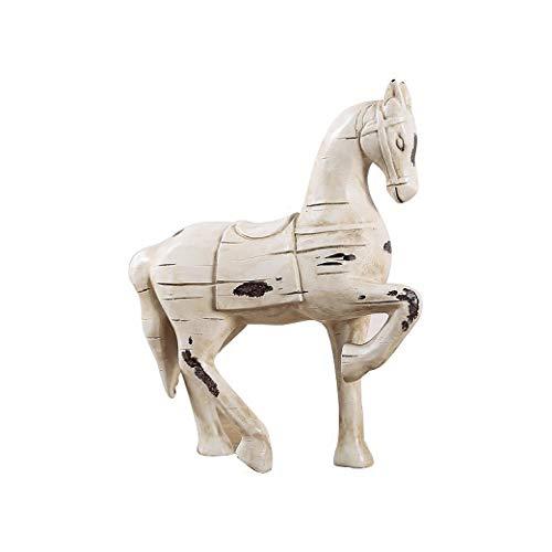 DOGOGO Doggo American Horse Kunstharz-Statue, Heimdekoration, Handwerk Ornament, Vintage-Geschenk, Resin Trojan, Einheitsgröße