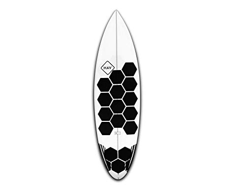 RSPro Hexatraction - Agarre para Tabla de Surf o Sup, Color Negro