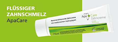 ApaCare Zahnpasta Spar-Set 2 x 75ml mit flüssigem Zahnschmelz glättet, überzieht hauchdünn mit einer Schutzschicht und hellt ihre Zähne auf.