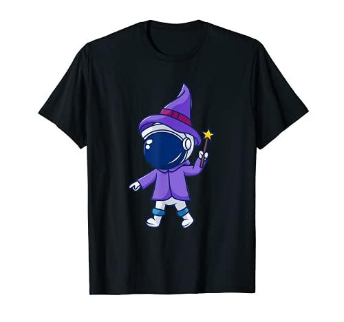 Halloween astronauta calabaza truco y tratar luna espacio bruja Camiseta