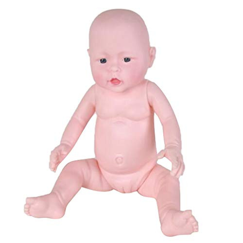 Almencla Reborn Baby Model Soft Simulation Silicone Body Mouth Lifelike Vivid Boy Girl for Baby Products Display, Nursing Training, Diapering Training - Fille