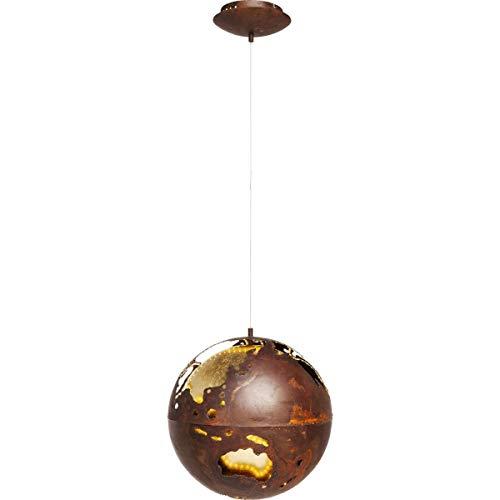Kare Design Hängeleuchte Big Bang LED Ø40cm,Weltkugel Lampe, Vintage Lampe, Industrial leuchte, Braun, (H/B/T) 120x40x40cm