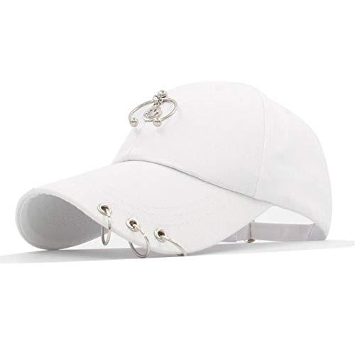FBXYL baseballpet met ijzeren ring voor dames en heren, baseballpet, snapbackpet