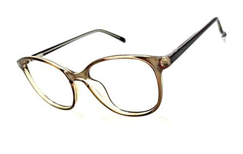 Armação Óculos Feminino Geek Redondo Lentes Sem Grau Yf-8026 (Dourado)