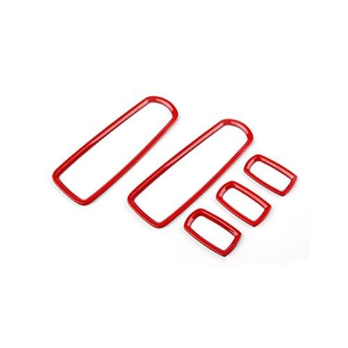 Accesorios de Interior ABS Cubierta del Panel De Control De La Ventana del Coche Moldura del Interruptor Elevador para Porsche para Macan 2014-2018 (Color : Rojo)