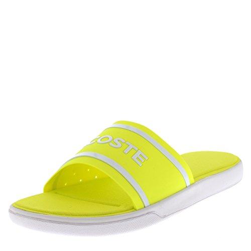 Lacoste Damen Bade-Pantoletten 7-35CAW002 Größe 39 Gelb (Gelb)