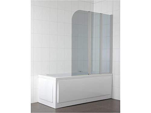 TrendLine Badewannenfaltwand Easy-4-Cool 3tlg. Badewannenaufsatz Duschtrennwand